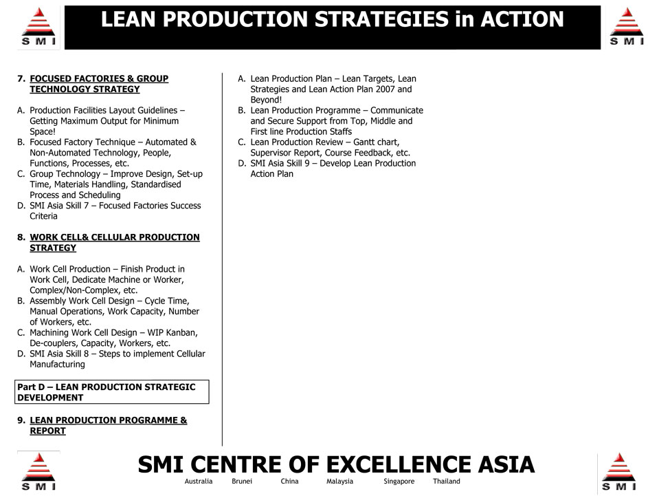 lean production strategy Transforming lean production lessons learned into lean enterprise strategies and  instituting lasting change at the process level this includes a discussion of the.